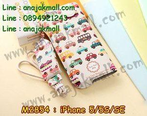 M2854-02 ซองหนัง iPhone5/5S/SE ลาย The Car