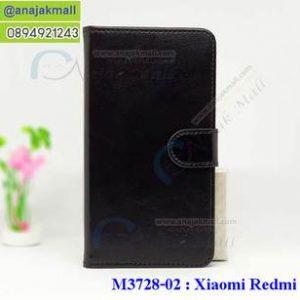 M3728-02 เคสฝาพับไดอารี่ Xiaomi Redmi 4X สีดำ