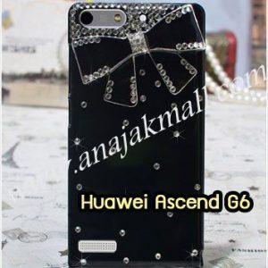 M1150-11 เคสประดับ Huawei Ascend G6 ลาย Black Bow