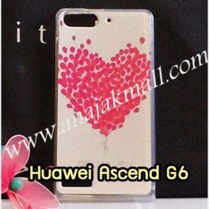 M1037-04 เคสยาง Huawei Ascend G6 ลาย Red Heart