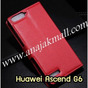 M1015-03 เคสฝาพับ Huawei Ascend G6 สีแดง