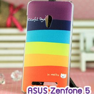 M747-10 เคสแข็ง ASUS ZenFone 5 ลาย Colorfull Day