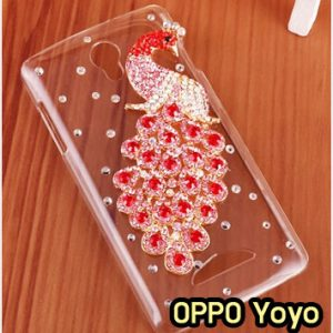 M865-19 เคสประดับ OPPO Yoyo ลายนกยูงแดง