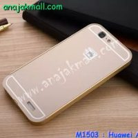 M1503-01 เคสอลูมิเนียม Huawei Ascend G7 สีทอง B