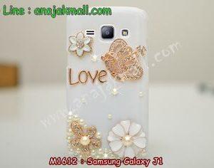 M1612-02 เคสประดับ Samsung Galaxy J1 ลายมงกุฏรัก