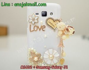 M1612-03 เคสประดับ Samsung Galaxy J1 ลาย Love You