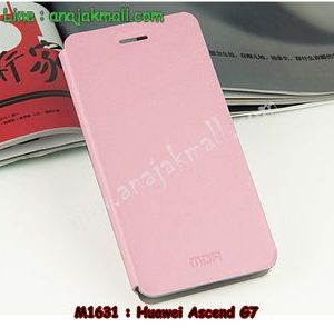 M1631-04 เคสฝาพับ Huawei Ascend G7 สีชมพู