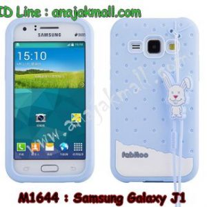 M1644-03 เคสซิลิโคน Samsung Galaxy J1 สีเขียว