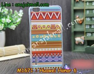M1671-02 เคสยาง Huawei Honor 6 ลาย Graphic II