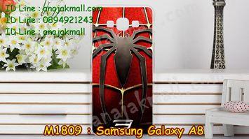 M1809-20 เคสแข็ง Samsung Galaxy A8 ลาย Spider