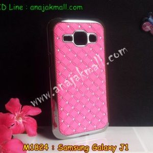 M1824-01 เคสแข็งประดับ Samsung Galaxy J1 สีชมพู
