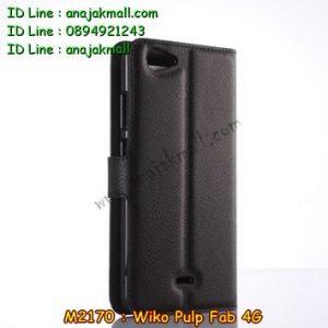 M2170-01 เคสฝาพับ Wiko Pulp Fab 4G สีดำ