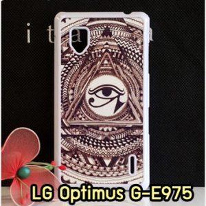M1251-06 เคสแข็ง LG Optimus G - E975 ลาย Black Eye