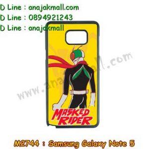 M2744-03 เคสขอบยาง Samsung Galaxy Note 5 ลาย Rider17