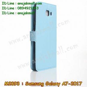 M2893-04 เคสฝาพับ Samsung Galaxy A7 (2017) สีฟ้า