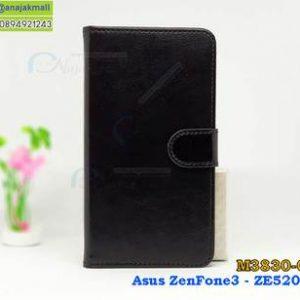 M3830-02 เคสฝาพับไดอารี่ Asus Zenfone 3 - ZE520KL สีดำ