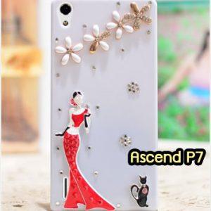 M1319-06 เคสประดับ Huawei Ascend P7 ลาย Lady Party