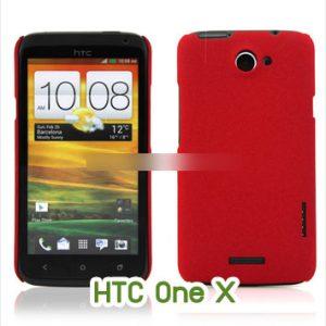 M377-01 เคสแข็งเนื้อทราย HTC ONe X/X+ สีแดง