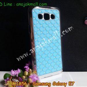 M1856-02 เคสแข็งประดับ Samsung Galaxy E7 สีฟ้า