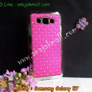M1856-03 เคสแข็งประดับ Samsung Galaxy E7 สีกุหลาบ