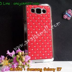 M1856-04 เคสแข็งประดับ Samsung Galaxy E7 สีแดง