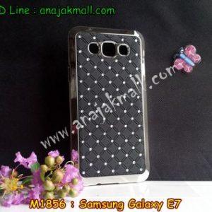 M1856-05 เคสแข็งประดับ Samsung Galaxy E7 สีดำ