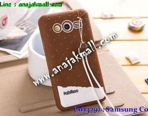 M1429-05 เคสซิลิโคน Samsung Galaxy Core 2 สีน้ำตาล