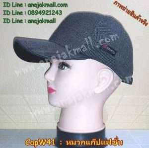 CapW41-01 หมวกแก๊ปมีที่ปิดหู ลายเทา