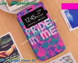 M1059-02 เคสโชว์เบอร์ Huawei Honor 3C ลาย Pride in Me