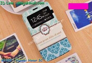 M1059-03 เคสโชว์เบอร์ Huawei Honor 3C ลาย Graphic I
