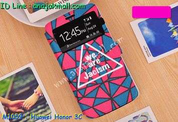 M1059-04 เคสโชว์เบอร์ Huawei Honor 3C ลาย Jacism