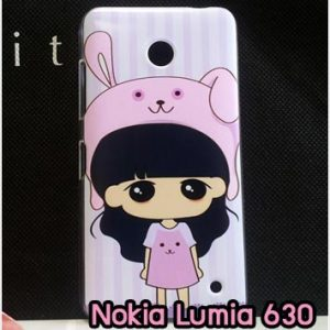 M827-11 เคสแข็ง Nokia Lumia 630 ลายสาวกระต่าย