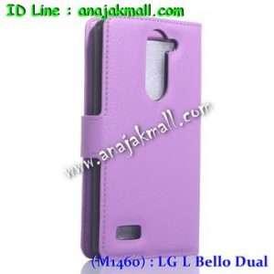 M1460-07 เคสฝาพับ LG L Bello Dual สีม่วง