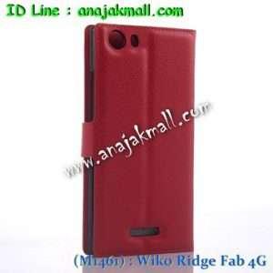 M1461-07 เคสฝาพับ Wiko Ridge Fab 4G สีแดง
