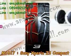 M1617-17 เคสแข็ง Sony Xperia Z3 Compact ลาย Spider IV