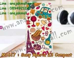M1617-25 เคสแข็ง Sony Xperia Z3 Compact ลาย Paris Cafe