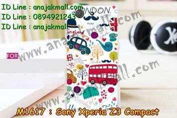M1617-30 เคสแข็ง Sony Xperia Z3 Compact ลาย London