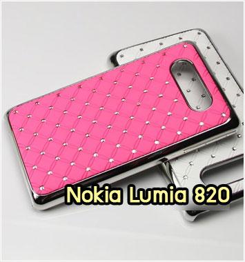 M1064-06 เคสแข็งประดับ Nokia Lumia 820 สีชมพู