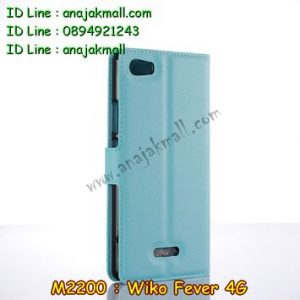 M2200-05 เคสฝาพับ Wiko Fever สีฟ้า