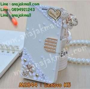 M2844-03 เคสฝาพับคริสตัล Lenovo K5 ลาย Love III