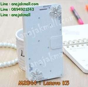 M2844-19 เคสฝาพับคริสตัล Lenovo K5 ลาย Fresh Flower III