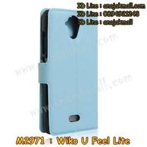 M2971-04 เคสฝาพับ Wiko U Feel Lite สีฟ้า