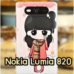 M1142-08 เคสแข็ง Nokia Lumia 820 ลายฟินฟิน