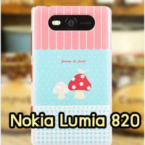 M1142-10 เคสแข็ง Nokia Lumia 820 ลาย Mushroom