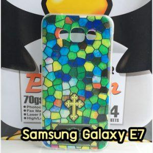 M1408-03 เคสซิลิโคน Samsung Galaxy E7 ลาย Cross