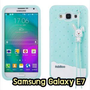 M1424-02 เคสซิลิโคน Samsung Galaxy E7 สีเขียว
