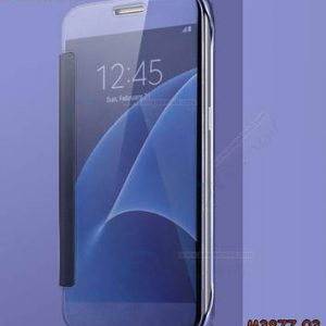 M3877-03 เคสฝาพับ Samsung Galaxy A8-2018 กระจกเงา สีม่วง