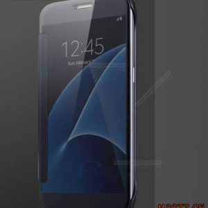 M3877-05 เคสฝาพับ Samsung Galaxy A8-2018 กระจกเงา สีดำ
