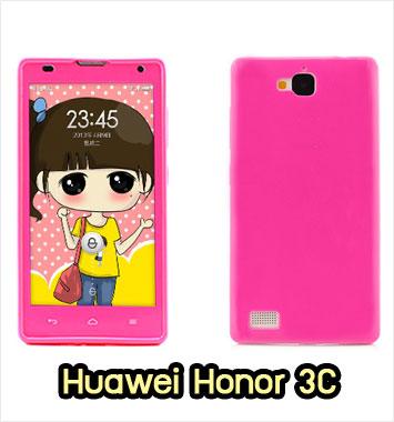 M889-01 เคสซิลิโคนฟิล์มสี Huawei Honor 3C สีชมพูเข้ม