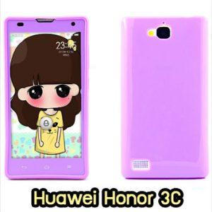 M889-06 เคสซิลิโคนฟิล์มสี Huawei Honor 3C สีม่วง